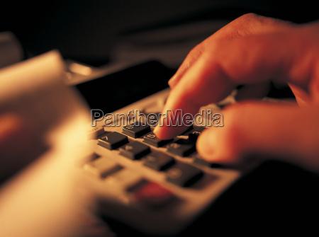 kalkulation hand finger makro grossaufnahme macro