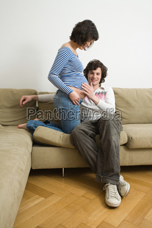 man with a pregnant partner