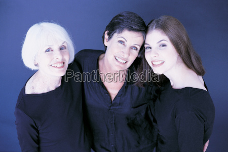 portrait of three female family members