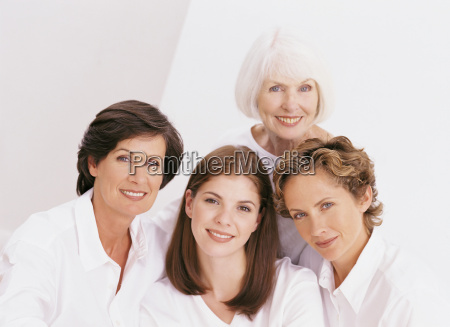 portrait of four female family members