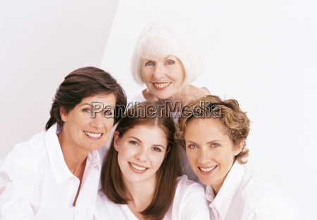 portrait of four female family members
