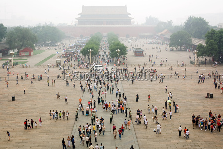 people in tiananmen square