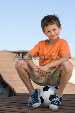 boy with a football