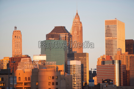 skyline von new york city bei