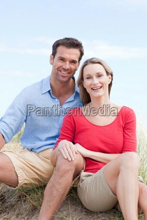 happy couple at the coast