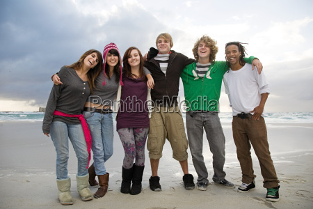 group of young friends portrait