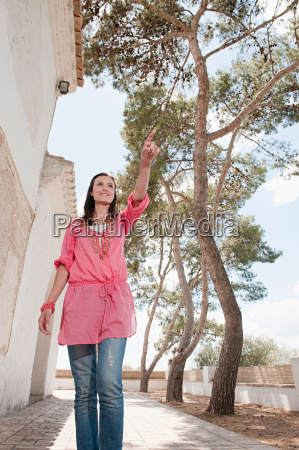 young woman walking on holiday