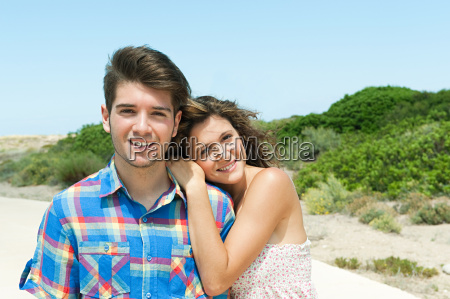 affectionate young couple portrait