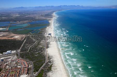 aerial view of cape peninsula cape