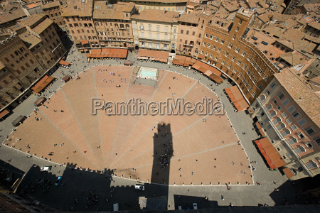 aerial view of piazza del campo