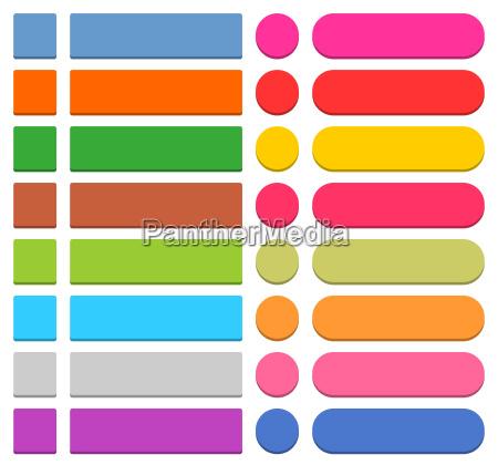 flache leere web symbol farbigen schaltflaeche