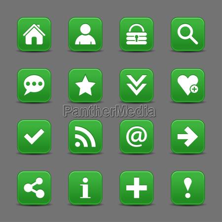 gruene satin symbol web schaltflaeche mit