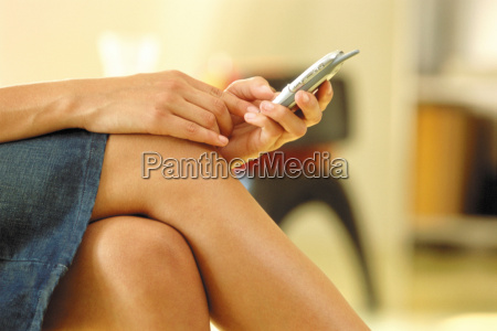 woman using a cellular phone