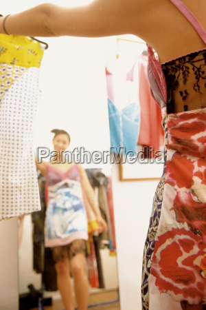 teenage girl wearing dress