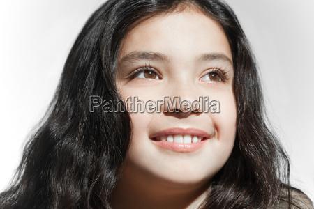 portrait of a smiling brunette girl