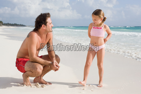 a father and daughter on a