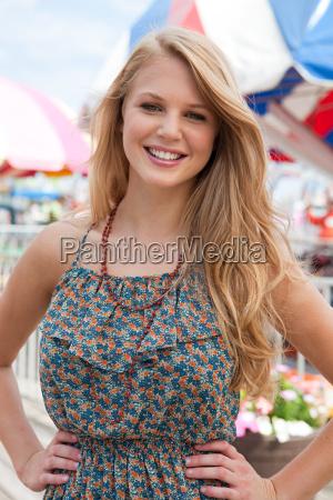 teenage girl with long hair