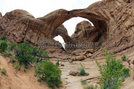 double arch arches national park utah