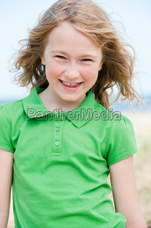 portrait of a girl at the