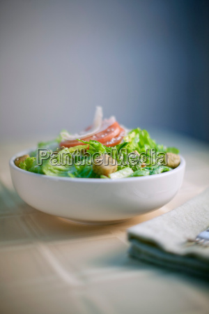 bowl of salad on table