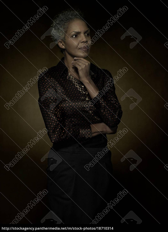 portrait, of, a, mature, woman - 18710314