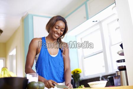 young woman taking a training break