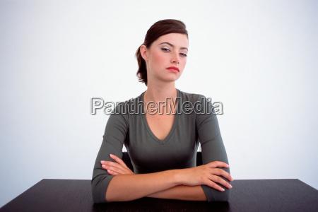 female looking at camera