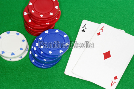 playing cards and gambling chips