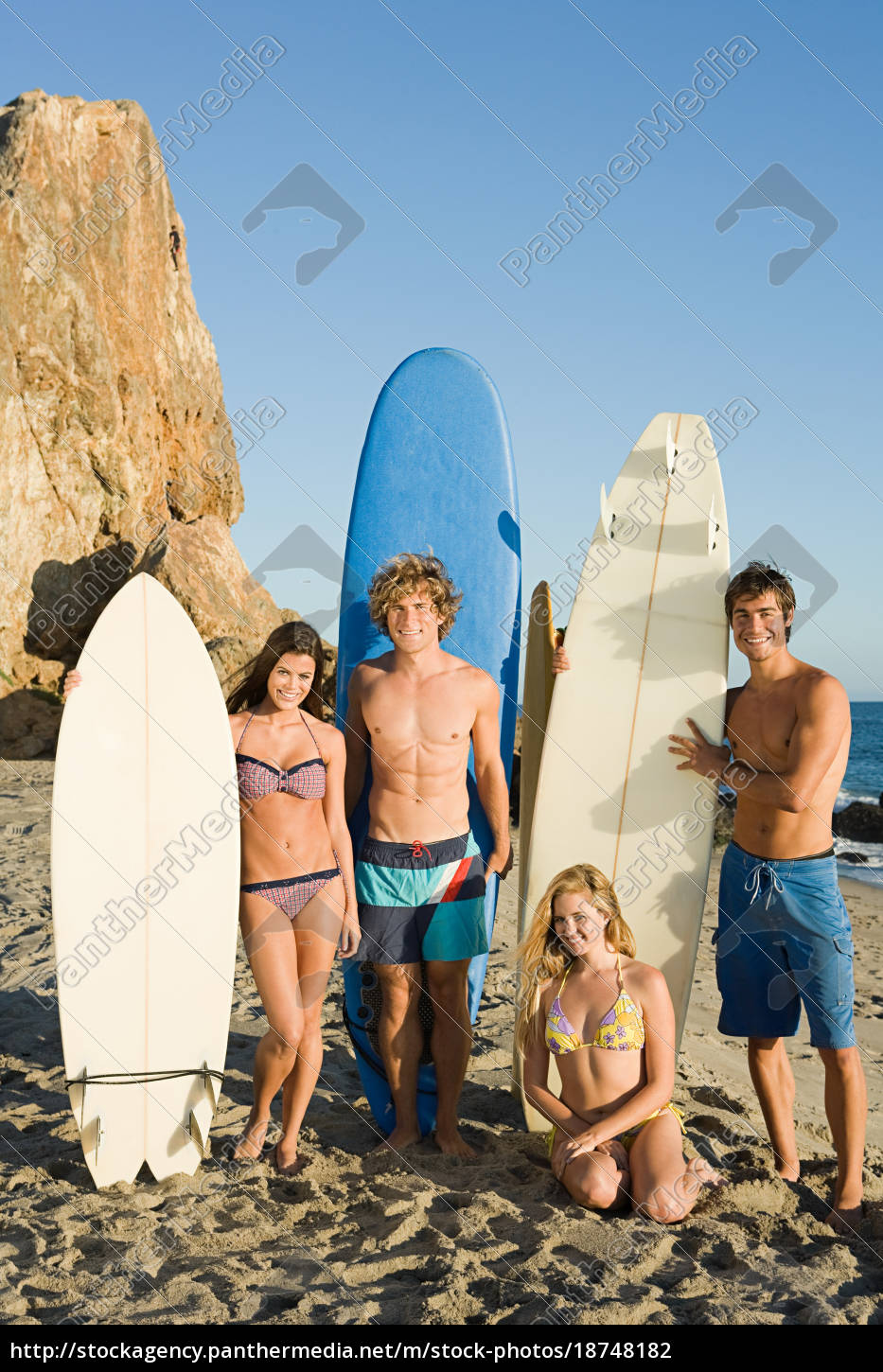 surfer, friends, at, the, beach - 18748182