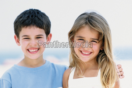 portrait of boy and girl