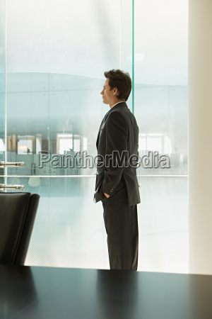 businessman standing in a office