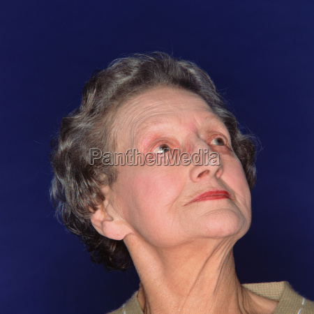 portrait of an elegant senior woman