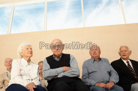 group of elderly people seated