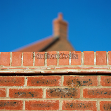 brick, wall, near, house - 18760002