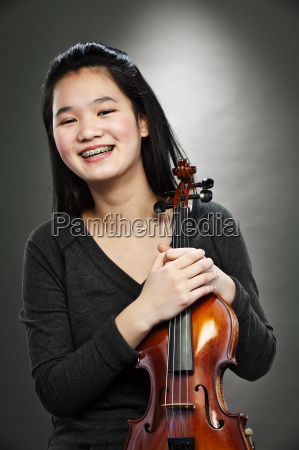 portrait of young asian teenage girl