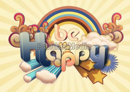 be, happy, illustration - 18766664