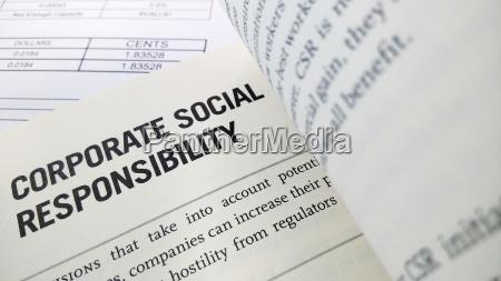 soziale verantwortung des unternehmens