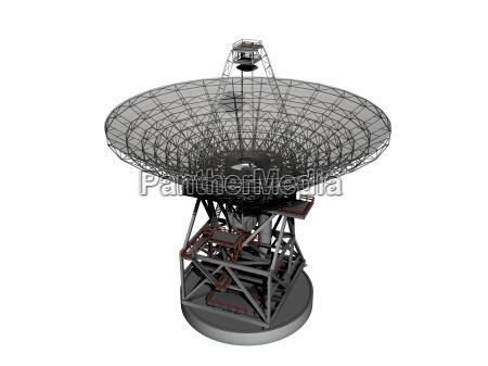 radioteleskop freigestellt