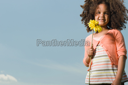 girl with a flower