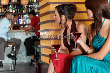 people sitting in bar