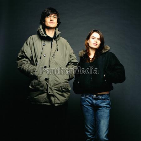 couple wearing coats