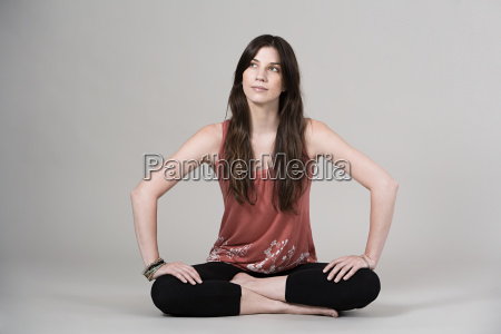 frau weiblich yoga joga weibchen kontemplation