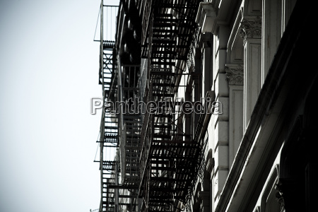 fire escapes on new york buildings