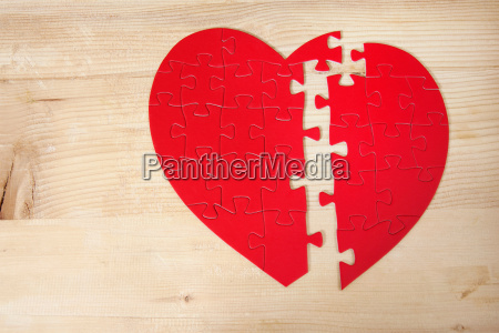 holz zerbrochen valentinstag problem puzzle niemand