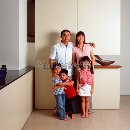 portrait of an asian family