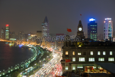 the bund shanghai at night