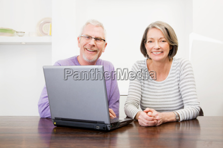 mature man and woman using a
