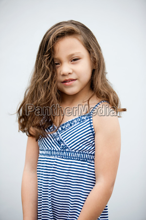 young girl wearing sundress portrait