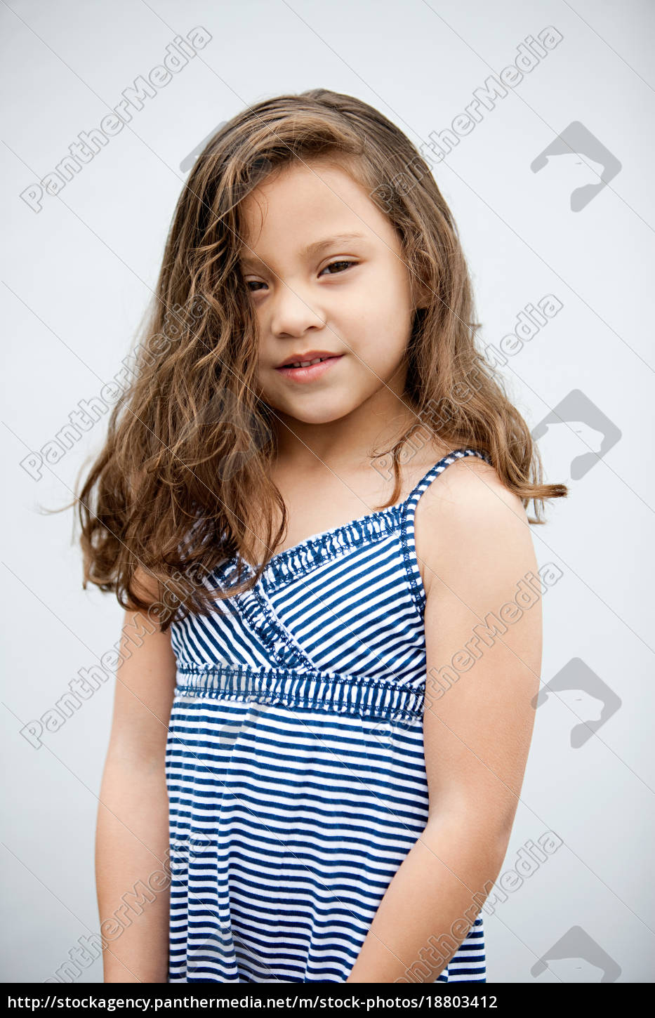 young, girl, wearing, sundress, , portrait - 18803412