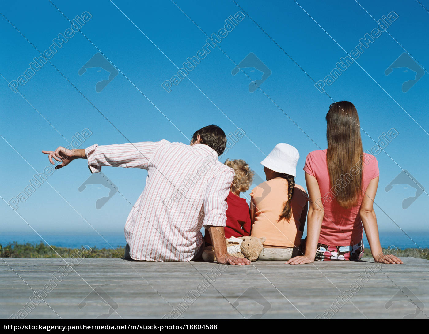 family, looking, at, sea, view - 18804588